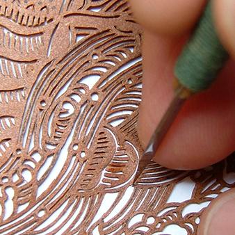 オコシ型紙商店の彫刻技術